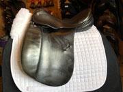 "Courbette Futura XL Dressage Saddle, 16.5"" XW, Black (Used)"