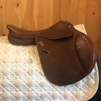 "Pessoa EQ Jump Saddle-17.5""-Medium-Brown"
