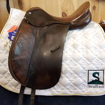 "Crosby Prix St. George Dressage Saddle-17""-Medium-Brown"