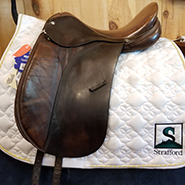 "Crosby Prix St. George Dressage Saddle-17""-Medium-Brown"