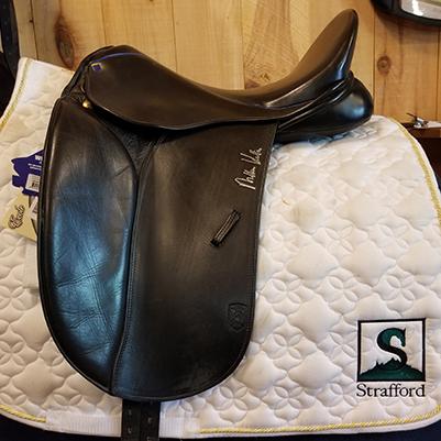 """Kottas Dressage Saddle-17.5""""-#4Fit(MediumWide)-Black"""
