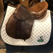 "Devocoux Jump Saddle-16.5""-MediumNarrow(M-1)-Brown"