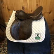 """Lovatt and Ricketts All Purpose Saddle-17.5""""-Wide-Brown"""