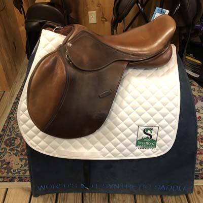 "Pessoa Jump Saddle-17.5""-Adjustable-Brown"