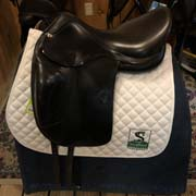 "Amerigo Vega Dressage Saddle-18""-Narrow(-1.5)-Black"