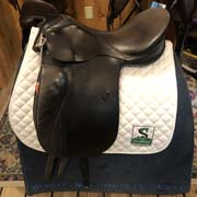 "Passier Dressage Saddle-17.5""-MediumWide-Black"