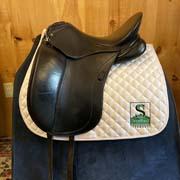 "Schleese Triump Dressage Saddle-18""-3 Fit(Wide)-Black"