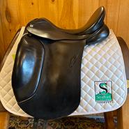 """Barnsby N-Gage Dressage Saddle-18""""-MediumWide-Black"""