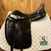 "Amerigo Dressage Saddle-17""-+3.5-Black"