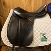 "Kieffer Wien Dressage Saddle-17.5""-MediumWide-Black"