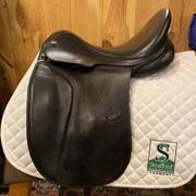 """Duett Fideleo Dressage Saddle-18""""-38cm-Black"""