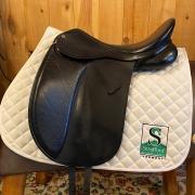"Collegiate Convertible Dressage Saddle-17""-Adjustable-Black"