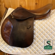 "Tad Coffin Classic Jump Saddle-17.5""-Brown"