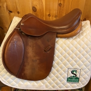 "R. Pessoa Jump Saddle-16.5""-Medium-Brown"