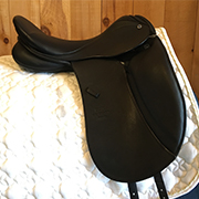 "Stubben Aramis Dressage Saddle-17.5""-30cm-Black"