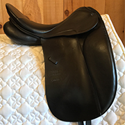 "Stubben Genesis Dressage Saddle BioMex Seat-18""-31cm-Black"
