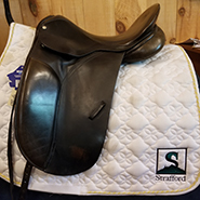 "County Competitor Dressage Saddle-17""-Medium-Black"