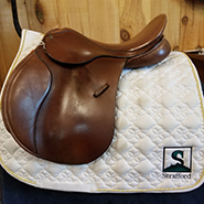 "County Eventer Close Contact Saddle-17.5""-XWide-Brown"