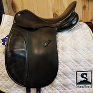 "County Warmblood Dressage Saddle-17""-Medium-Black"