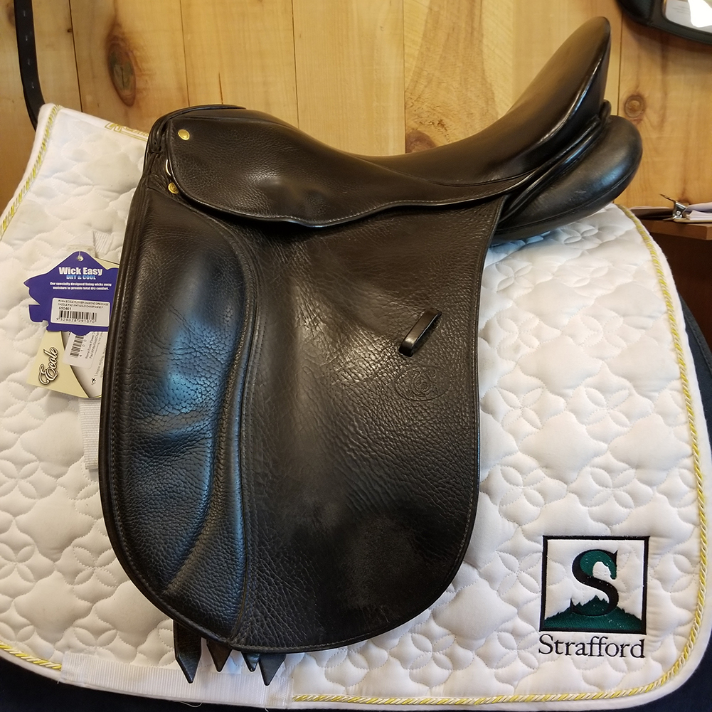 "Passier Optimum Dressage Saddle-17.5""-Medium-Black"