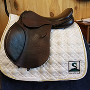 "Ideal All Purpose Saddle-18""-MediumWide-Brown"