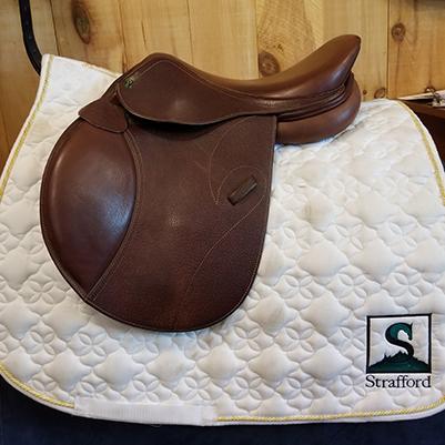 """Pinnacle Jump Saddle-16""""-Wide-Brown"""
