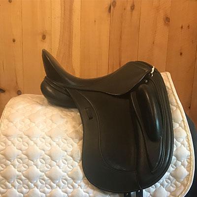 """Schleese Obrigado Dressage Saddle-17.5""""- #3 fit - Black"""
