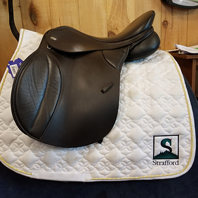 "Thorowgood T8 All Purpose Synthetic Saddle-18.5""-Adjustable-Brown"