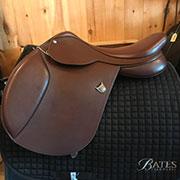 "Bates Caprilli Forward Flap Jump Saddle - Adjustable 18"""