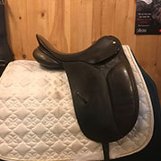 "Country Competitor Dressage Saddle-Medium-16.5""-Black"