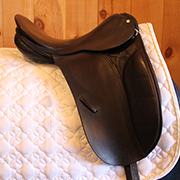 "County Competition Dressage Saddle - Medium Wide - 17"" - Black (Used)"