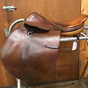 "Crosby Jump Saddle-17""-MediumNarrow-Brown"