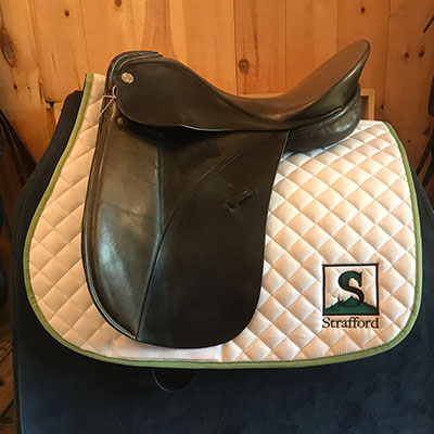 "Keifer Munchen II Dressage Saddle-18""-Medium Narrow-Black"