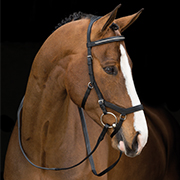 Rambo® Micklem Diamante Competition Bridle and Rubber Reins