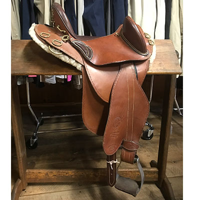 "Southern Cross Aussie Saddle - 14"" Brown"