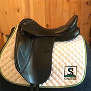 """Stubben Aramis Dressage Saddle Black 30 17.5"""" (Used)"""