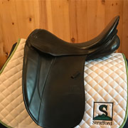 """Stubben Maestoso Dressage Saddle 32cm 18"""" Black (Used)"""
