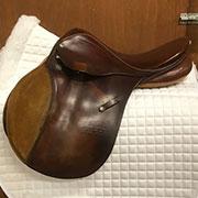 """Stubben Rex Kids Saddle 32cm/MW 16"""" Brown"""