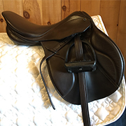 "Stubben Genesis Deluxe Jump Saddle 31cm 18"" Brown (Used)"